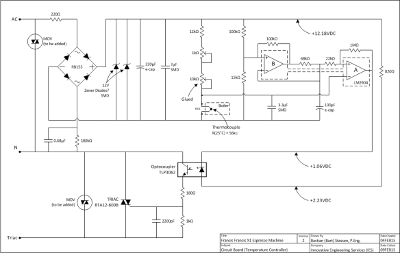 diy decompression stop francis francis x1 espresso machine circuit board schematic